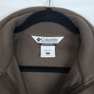 Columbia Sweaters - Columbia brown zip up collared jacket sweatshirt